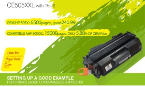 for HP CE505XXL Toner Cartridge Upgraded