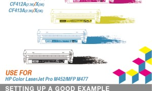 New Release for HP CF410-413A/X Color compatible toner cartridge