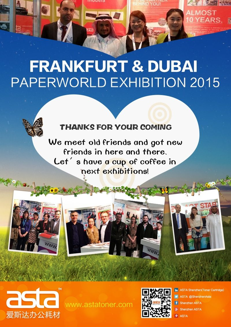 Thanks for Visit us in Paperworld 2015