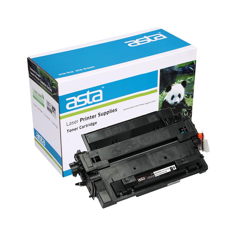for hp ce255a black compatible laserjet toner cartridge. Black Bedroom Furniture Sets. Home Design Ideas