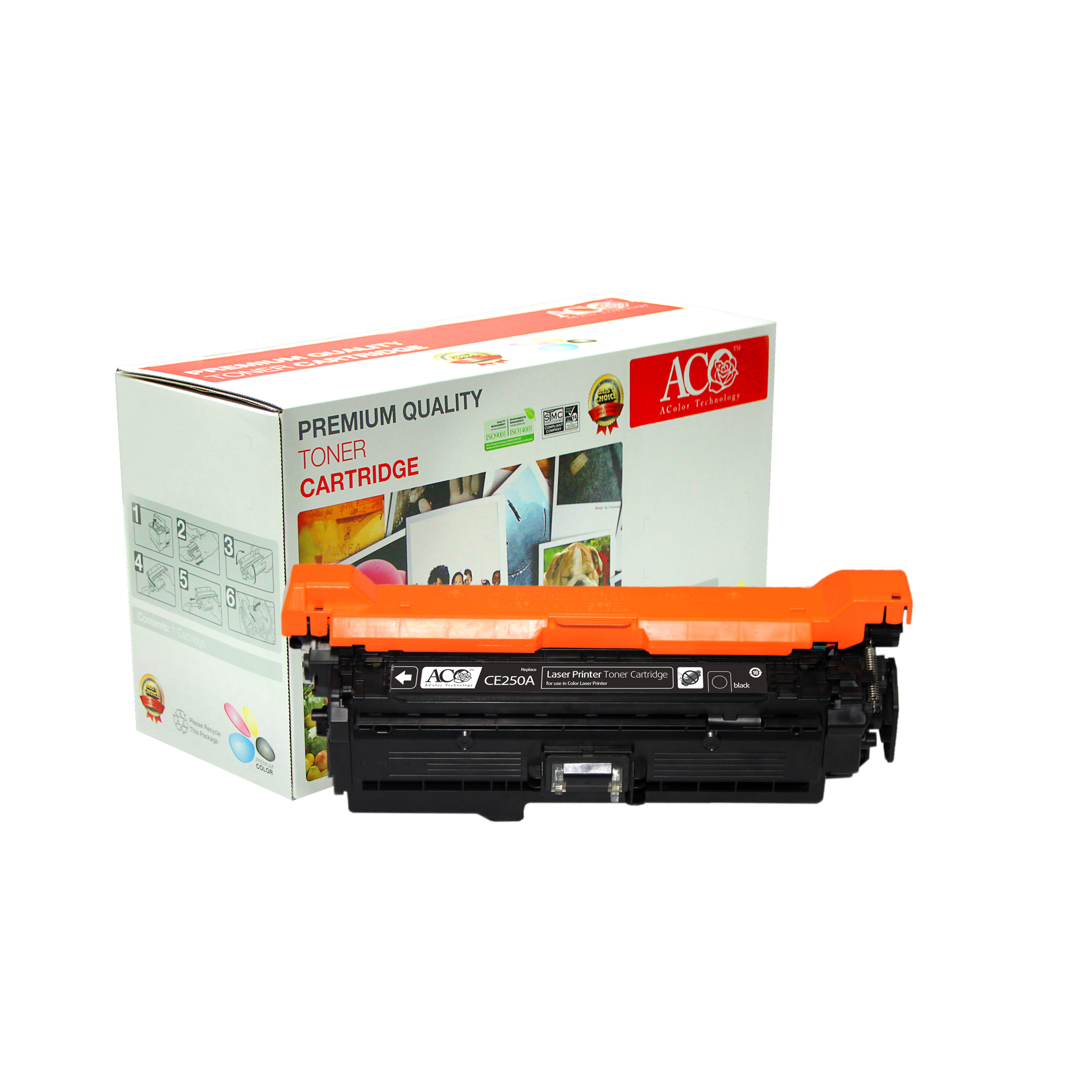 Compatible Color Toner Cartridge for HP CE250A CE251A CE252A CE253A(for HP Color LaserJet CM3530MFP CM3530fsMFP CP3525 CP3525n CP3525dn CP3525x)