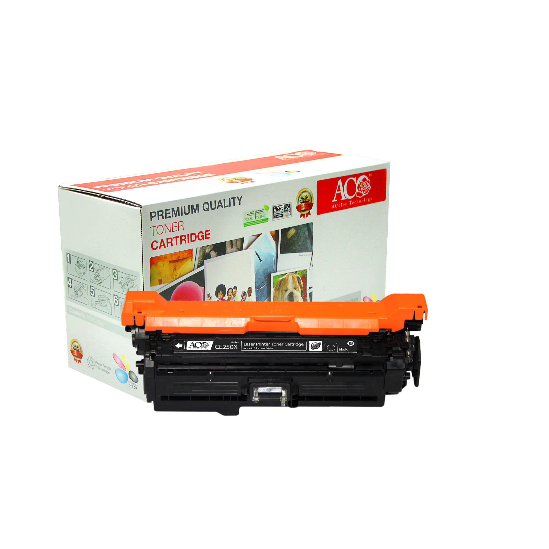 Compatible Color Toner Cartridge for HP CE250X(for HP Color LaserJet CM3530MFP CM3530fsMFP CP3525 CP3525n CP3525dn CP3525x)
