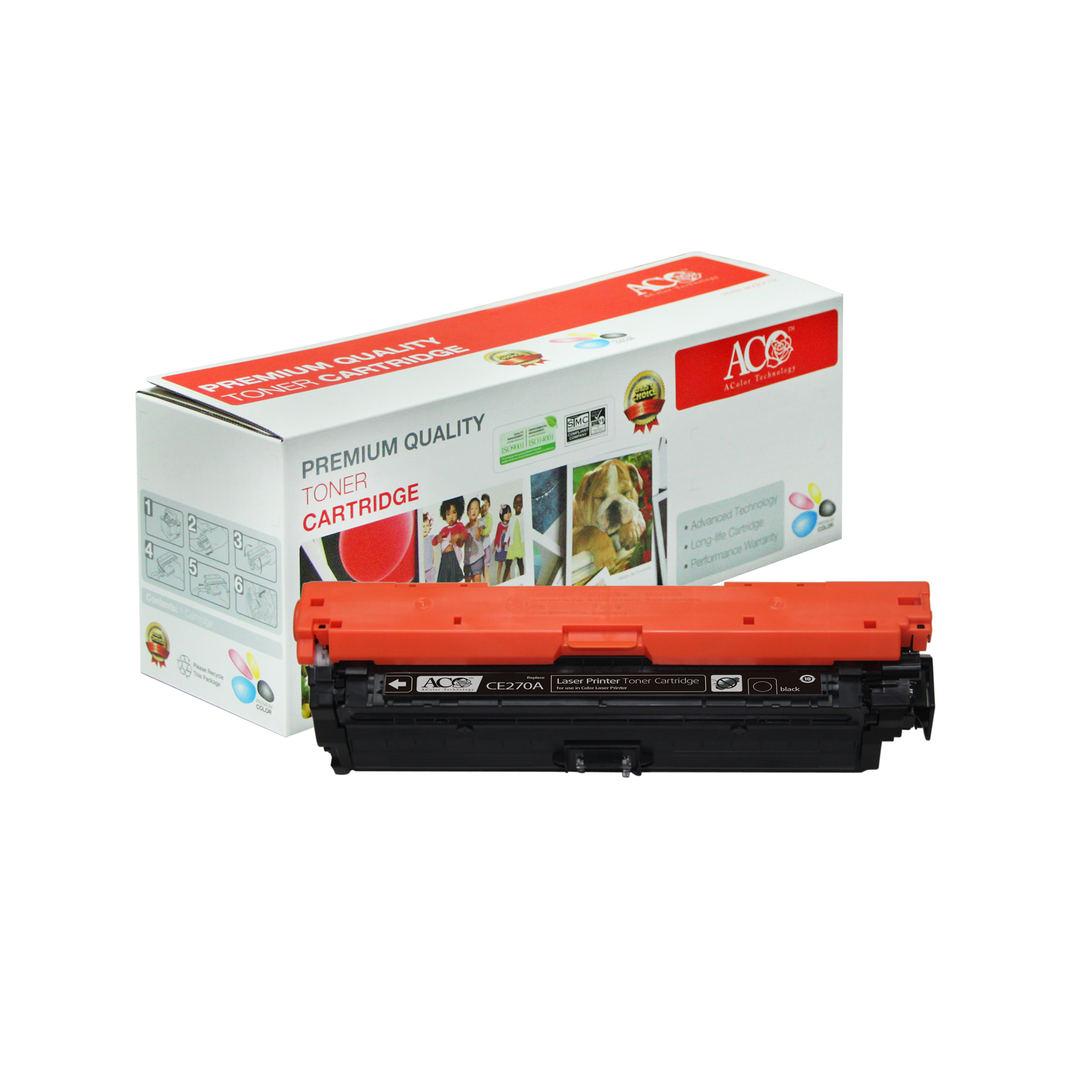 Compatible Color Toner Cartridge for HP CE270A CE271A CE272A CE273A(for HP Color LaserJet CP5525n 5525dn 5525xh CP5525n Enterprise M750n)