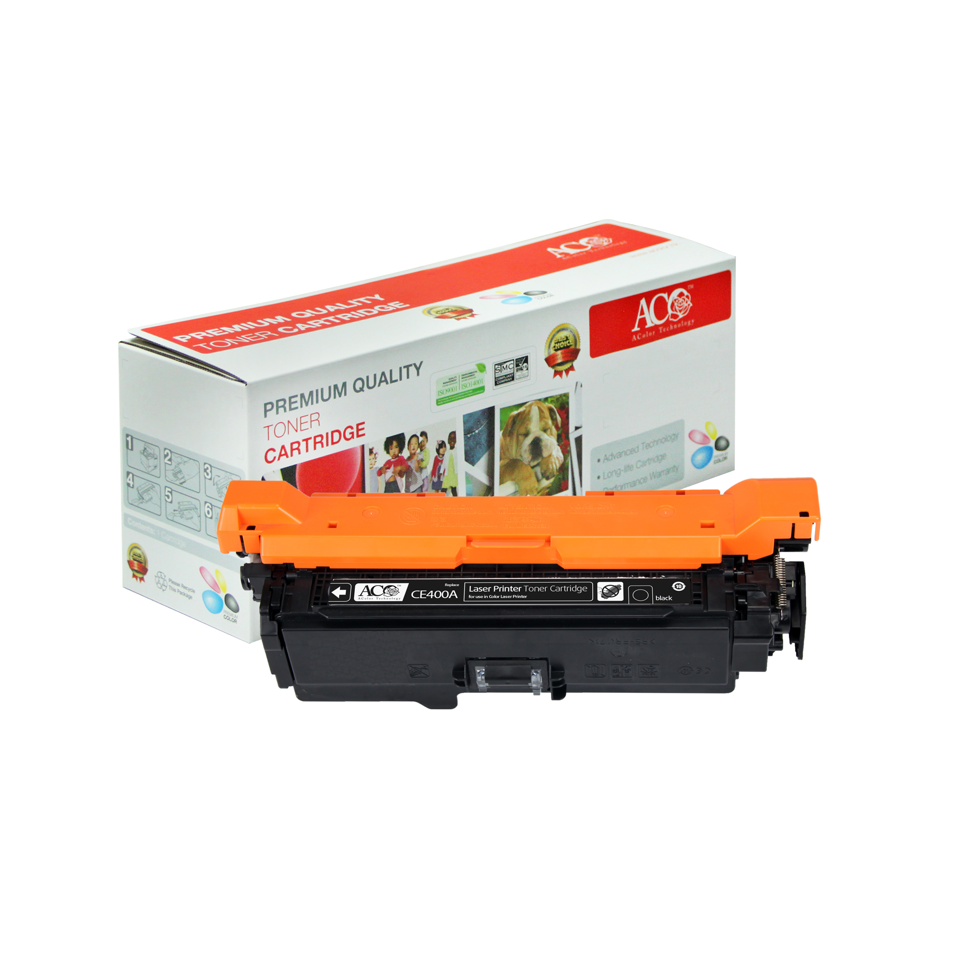 Compatible Color Toner Cartridge for HP CE400A CE401A CE402A CE403A(Enterprise 500 Color M551n 525f 525dn 570 575f)