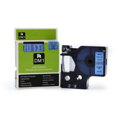 Compatible For DYMO 43616 Used for Labeling Machines (6mm*7m,Black on Blue )