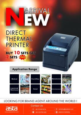 热敏打印机促销海报